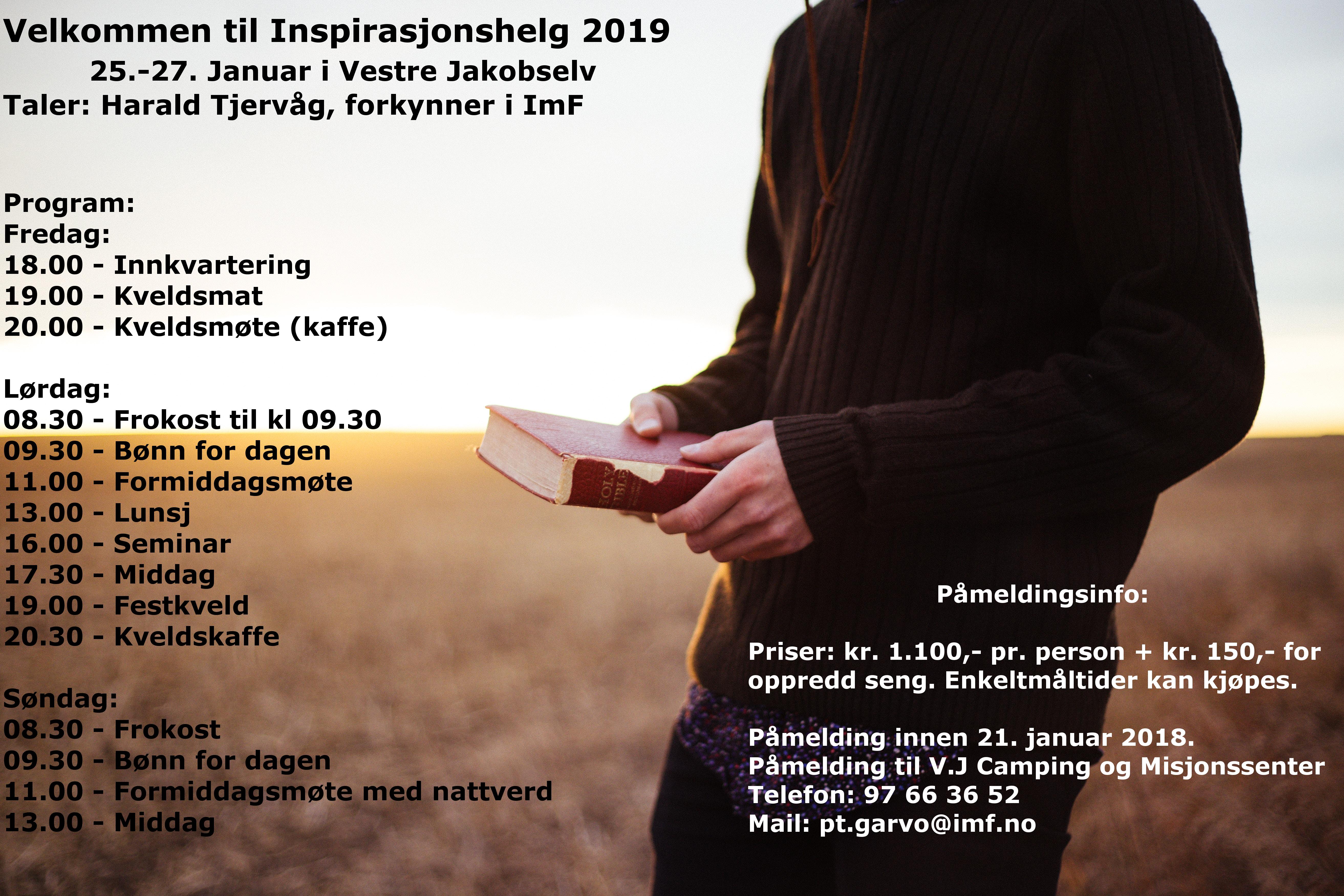 Inspirasjonshelg 2019 @ Vestre Jakobselv Camping og Misjonssenter